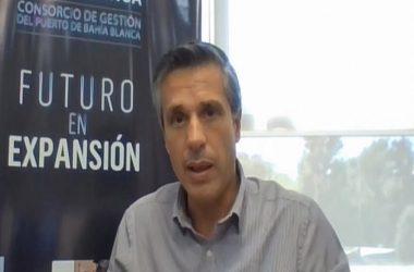 Juan Linares, Gerente Desarrollo de Negocios Puerto Bahía Blanca. / Foto Puerto Bahía Blanca