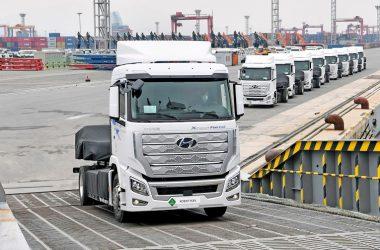 El objetivo de Hyundai es contar con 1.600 vehículos industriales eléctricos de pila de combustible para 2025.