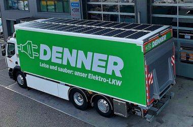 Vehículo es un D Wide Z.E. de Renault Trucks, 100% eléctrico y de 26 toneladas.