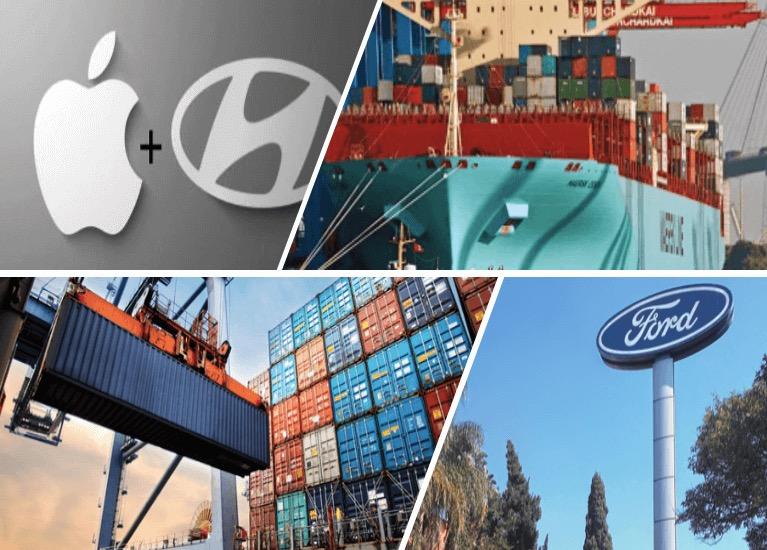 Maersk pierde contenedores en altamar / Apple y Hyundai se unen / Roleos de carga al alza / Ford se va de Brasil en el Análisis de la Semana