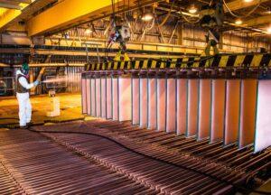 El cobre se transó en cuatro dólares con 70 centavos la libra en la Bolsa de Metales de Londres.