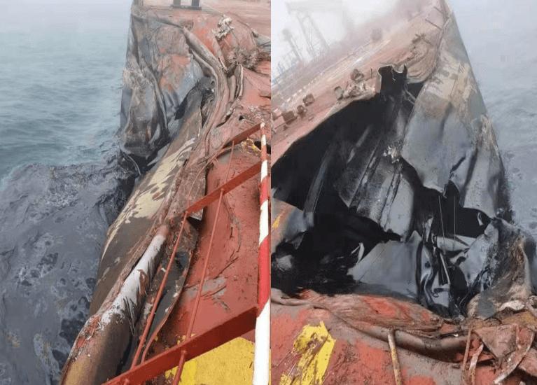 Colisión de buques genera derrame de petróleo frente al puerto de Qingdao