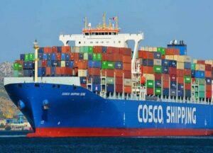 El tráfico de Cosco en terminales en la región de la costa suroeste creció un 29,2%.