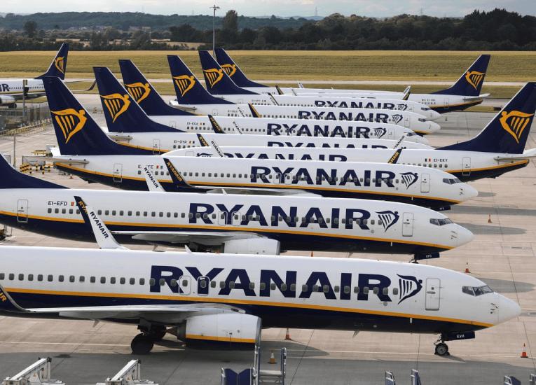 Ryanair declara pérdidas por más de 1.000 millones de euros en 2020