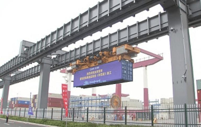 Skyrail: sistema para movilizar contenedores por el aire en puerto de Qingdao